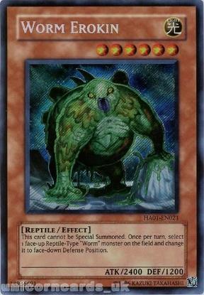 Picture of HA01-EN021 Worm Erokin Secret Rare UNL Edition Mint YuGiOh Card