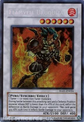Picture of HA01-EN024 Flamvell Uruquizas Secret Rare UNL Edition Mint YuGiOh Card
