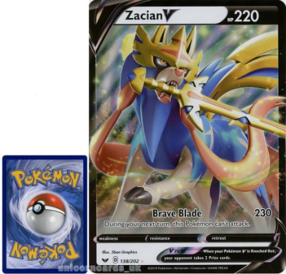Picture of Zacian V 138/202 JUMBO OVERSIZED Promo Holo Mint Pokemon Card