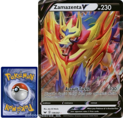 Picture of Zamazenta V 139/202 JUMBO OVERSIZED Promo Holo Mint Pokemon Card