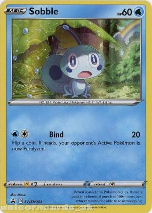 Picture of Sobble SWSH003 Black Star Promo Holo Mint Pokemon Card