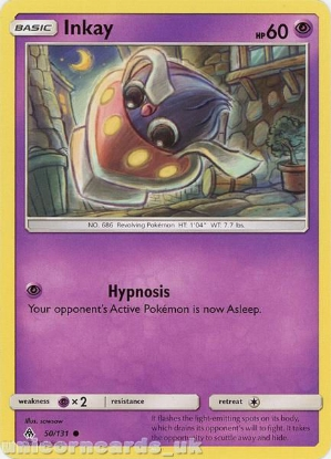 Picture of Inkay 50/131 :: BDRN :: Common Mint Pokemon Card