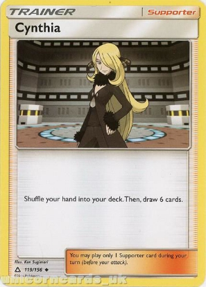 Picture of Cynthia 119/156 :: BDRN :: Uncommon Mint Pokemon Card
