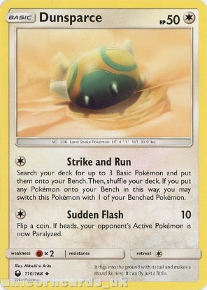 Picture of Dunsparce 110/168 :: BDRN :: Uncommon Mint Pokemon Card