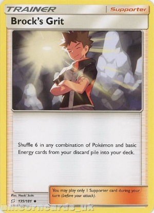Picture of Brock's Grit 135/181 :: BDRN :: Uncommon Mint Pokemon Card