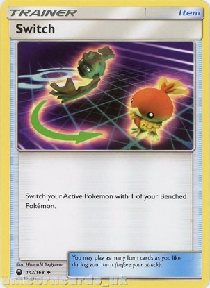 Picture of Switch 147/168 :: BDRN :: Uncommon Mint Pokemon Card