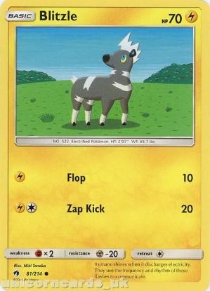 Picture of Blitzle 81/214 :: BDRN :: Common Mint Pokemon Card