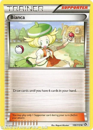 Picture of Bianca 109/113 BKWK Uncommon Mint Pokemon Card
