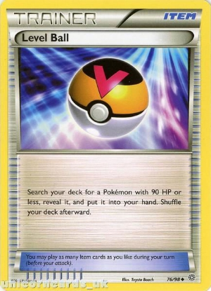 Picture of Level Ball 76/98 BKWK Mint Pokemon Card