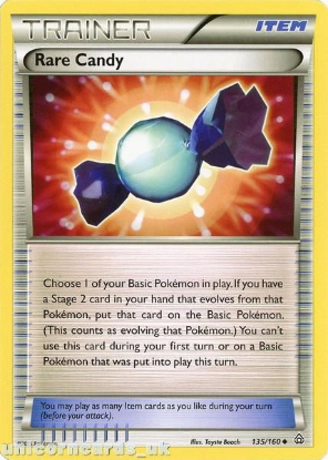 Picture of Rare Candy 135/160 BKWK Mint Pokemon Card