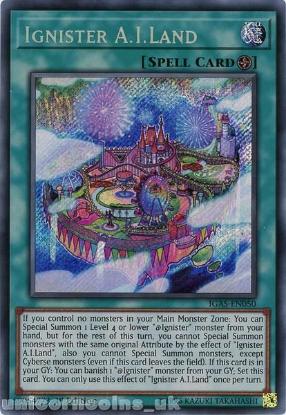 Picture of IGAS-EN050 Ignister A.I.Land Secret Rare 1st Edition Mint YuGiOh Card