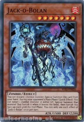 Picture of IGAS-EN026 Jack-o-Bolan Super Rare 1st Edition Mint YuGiOh Card