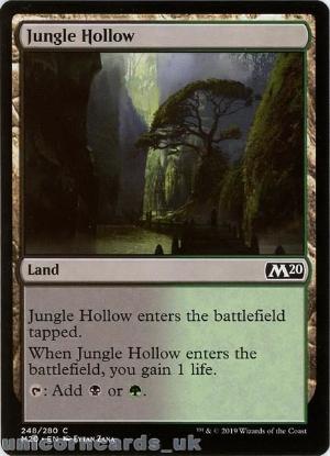 Picture of Jungle Hollow Common Mint MTG Card :: Throne of Eldraine Brawl Decks ::