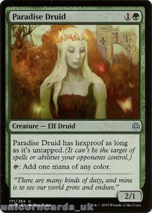 Picture of Paradise Druid Uncommon Mint MTG Card :: Throne of Eldraine Brawl Decks ::