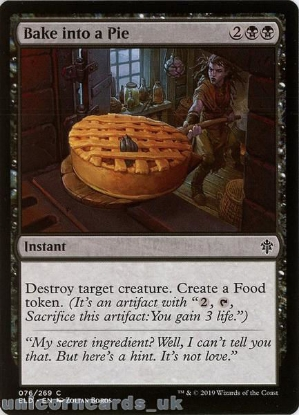 Picture of Bake into a Pie Common Mint MTG Card :: Throne of Eldraine Brawl Decks ::