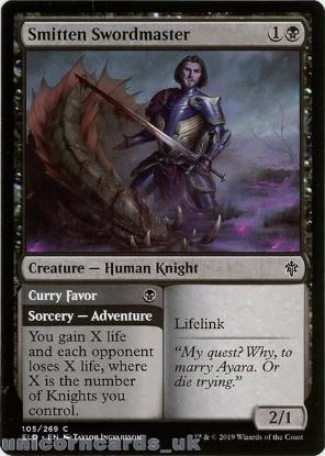Picture of Smitten Swordmaster Common Mint MTG Card :: Throne of Eldraine Brawl Decks ::