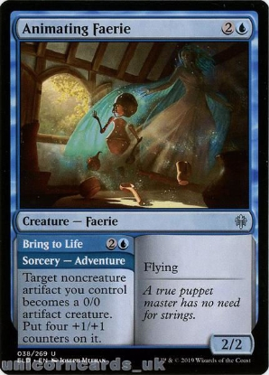 Picture of Animating Faerie Uncommon Mint MTG Card :: Throne of Eldraine Brawl Decks ::