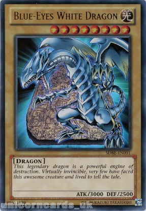 Picture of SDBE-EN001 Blue-Eyes White Dragon Ultra Rare UNL Edition Mint YuGiOh Card