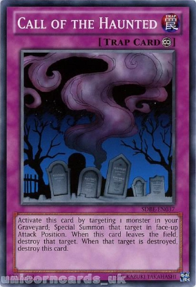 Picture of SDBE-EN037 Call of the Haunted UNL Edition Mint YuGiOh Card
