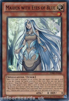 Picture of SDBE-EN006 Maiden with Eyes of Blue Super Rare UNL Edition Mint YuGiOh Card