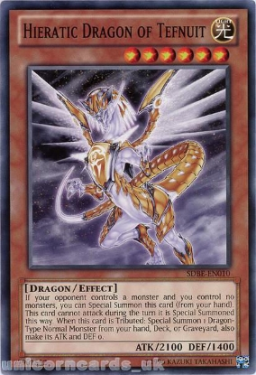 Picture of SDBE-EN010 Hieratic Dragon of Tefnuit UNL Edition Mint YuGiOh Card