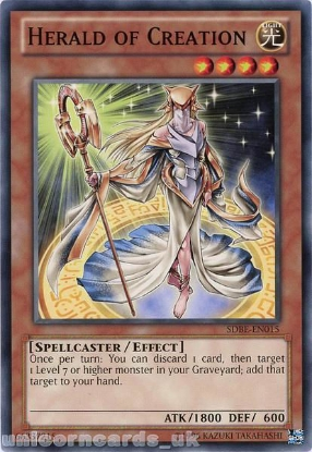 Picture of SDBE-EN015 Herald of Creation UNL Edition Mint YuGiOh Card