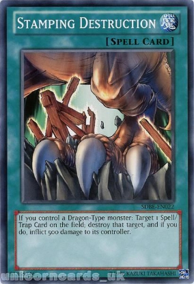 Picture of SDBE-EN022 Stamping Destruction UNL Edition Mint YuGiOh Card