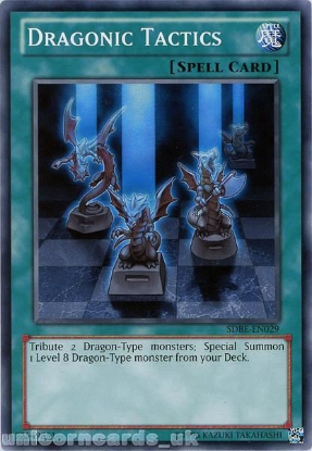 Picture of SDBE-EN029 Dragonic Tactics UNL Edition Mint YuGiOh Card