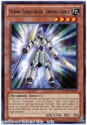 Picture of REDU-EN008 Heroic Challenger - Double Lance Rare UNL Edition Mint YuGiOh Card