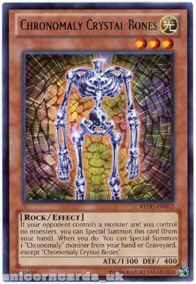 Picture of REDU-EN012 Chronomaly Crystal Bones Rare UNL Edition Mint YuGiOh Card