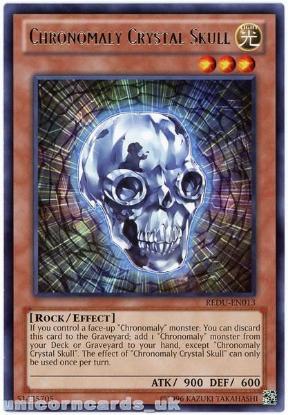 Picture of REDU-EN013 Chronomaly Crystal Skull Rare UNL Edition Mint YuGiOh Card