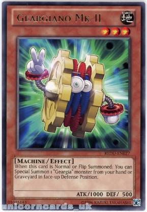 Picture of REDU-EN027 Geargiano Mk-II Rare UNL Edition Mint YuGiOh Card