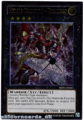 Picture of REDU-EN041 Heroic Champion - Excalibur Ultimate Rare UNL Edition Mint YuGiOh Card
