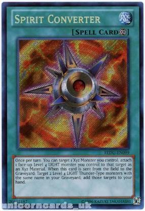 Picture of REDU-EN099 Spirit Converter Secret Rare UNL Edition Mint YuGiOh Card