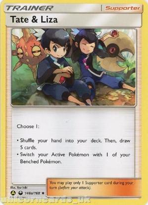 Picture of Tate & Liza 148a/168 :: BDRN :: Uncommon Mint Pokemon Card
