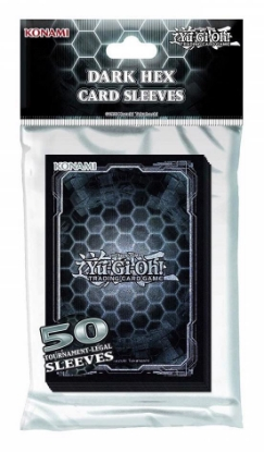 Picture of YuGiOh! Dark Hex Cards Sleeves :: Official Konami High Quality YuGiOh! Card Sleeves x50
