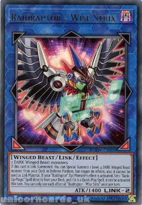 Picture of DUOV-EN005 Raidraptor - Wise Strix Ultra Rare 1st Edition Mint YuGiOh Card