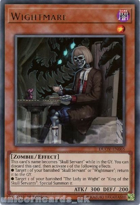 Picture of DUOV-EN065 Wightmare Ultra Rare 1st Edition Mint YuGiOh Card