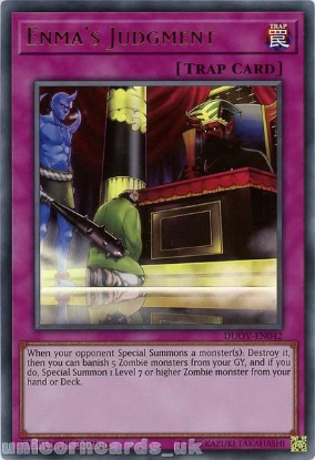 Picture of DUOV-EN042 Enma's Judgment Ultra Rare 1st Edition Mint YuGiOh Card