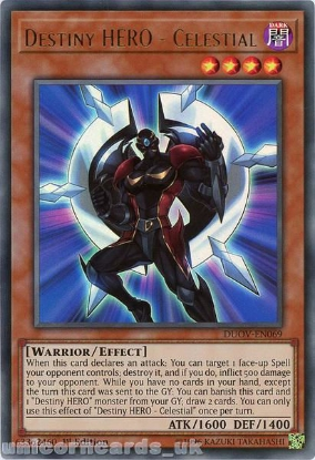 Picture of DUOV-EN069 Destiny HERO - Celestial Ultra Rare 1st Edition Mint YuGiOh Card
