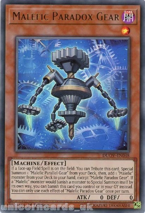 Picture of DUOV-EN048 Malefic Paradox Gear Ultra Rare 1st Edition Mint YuGiOh Card
