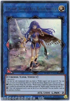 Picture of DUOV-EN023 Lib the World Key Blademaster Ultra Rare 1st Edition Mint YuGiOh Card