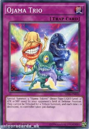 Picture of SR04-EN034 Ojama Trio UNL Edition Mint YuGiOh Card