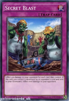 Picture of SR04-EN038 Secret Blast UNL Edition Mint YuGiOh Card