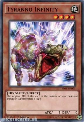 Picture of SR04-EN009 Tyranno Infinity UNL Edition Mint YuGiOh Card