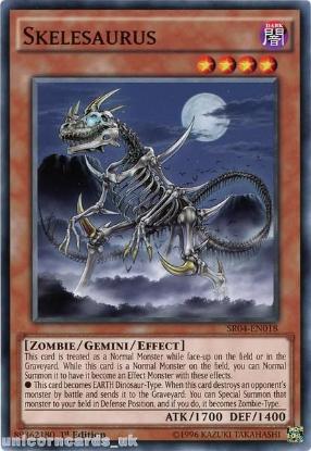Picture of SR04-EN018 Skelesaurus UNL Edition Mint YuGiOh Card