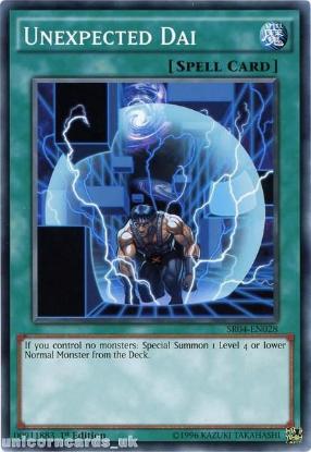Picture of SR04-EN028 Unexpected Dai UNL Edition Mint YuGiOh Card