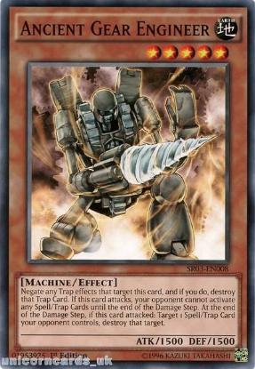 Picture of SR03-EN008 Ancient Gear Engineer UNL Edition Mint YuGiOh Card