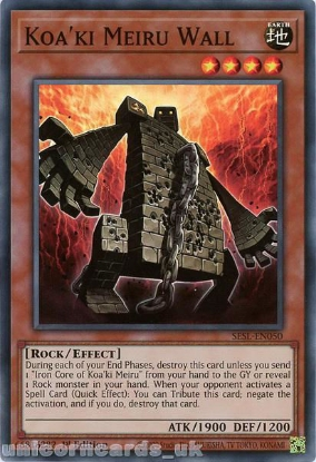 Picture of SESL-EN050 Koa'ki Meiru Wall Super Rare 1st Edition Mint YuGiOh Card