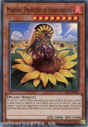 Picture of SESL-EN053 Marina, Princess of Sunflowers Super Rare 1st Edition Mint YuGiOh Card